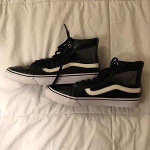 Black Leather Mesh High-Top VANS